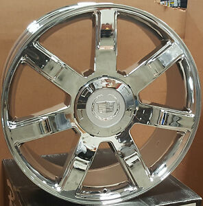 New 22 Cadillac Escalade 7 Spoke Style Rims Chrome Wheels Replica 24 Esv Ext