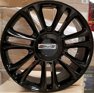 24 Wheels Fit Cadillac Escalade Platinum Factory Style Gloss Black Rims Ext Esv