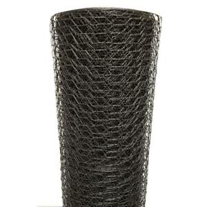 Poultry Netting 3 X 150 Ft 1 Inch Chicken Wire Vinyl Coated Black Coop Fencing
