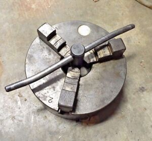 Burnerd 6 3 Jaw Metal Lathe Chuck Flat Back Southbend Atlas Craftsman Jet