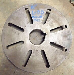Rockwell 10 L 00 Face Plate Metal Lathe Chuck Backing Clausing Southbend Logan