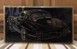 Chevrolet Chevy Corvette Sting Ray Coupe Gas Oil Parts Auto Garage Man Cave