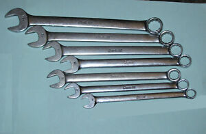 Snap On Oexm 7 Piece Combination Wrench Set Metric 10 11 12 13 14 15 17mm