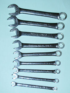 Snap On Combination Wrench Set 8 Piece Standard 6 Point Oxi