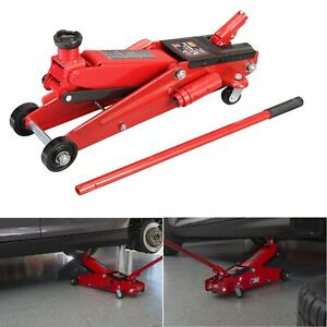 3 Ton Low Profile Steel Heavy Duty Floor Jack Truck Suv Lifting Tool Hydraulic