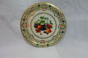 Vtg Daher Style Toleware Round Metal Tray Fruit And Wine Measures 10