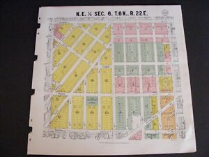 1931 Milwaukee Wi Wisconsin Plat Map Antique Historic Mitchell St Greenfield