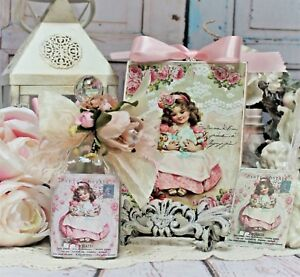 Shabby Chic Vintage Paris Decorative Perfume Type Bottle Wall Sign Gift