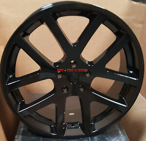 20 Srt10 Style Wheels Gloss Black Rims Tires Fit Dodge Charger Challenger 300c