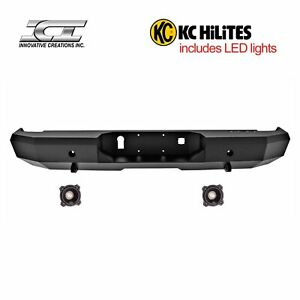 Rbm62chn kc Magnum Off Road Rear Bumpers With Kc Hilites Led Reverse Lights Ici