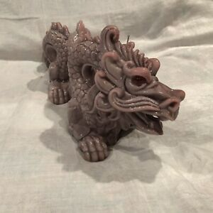 Vtg Chinese Dragon Wax Scrulpture Giant Candle Statue 24 L