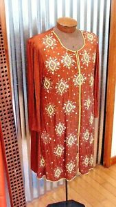 Hand Embroidery Silk Dress Middle East