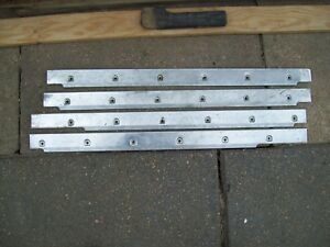 69 75 72 International Travelall Factory Stainless Door Sill Moldings 4 Pieces