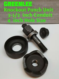Greenlee 741bb Conduit Knockout Punch Die Set 3 1 2 inch Punch 4 inch Knock Out