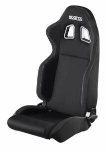 Black Black Sparco R100 Reclining Cloth Civic Mustang Camaro 00961nrnr New