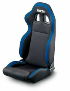 Black Blue Sparco R100 Reclining Cloth Seat Civic Mustang Camaro 00961nraz New