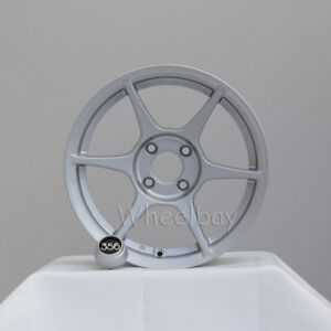 4 356 Lightweight Wheels Tfs401 15x7 4x100 35 Silver Integra Miata 12 5 Lbs