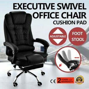 1 5pcs Office Gaming Chair High Back Recliner Swivel Executive Computer Footrest
