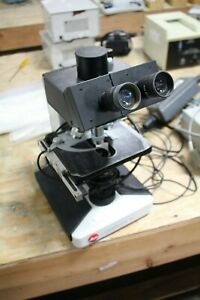 E Leitz Laborlux s Dic Microscope W 4 Objectives Light Source