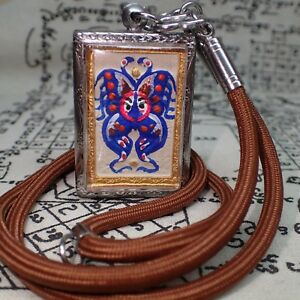 King Butterfly Buddha Power Love Sex Attraction Amulet Kruba Krissana Necklace