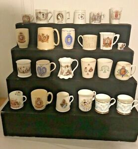 Collection Of 24 Antique Coronation Cups