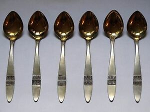 Vintage Sterling Silver Spoons Silver Gold Plated Niel 916 Sample Silver Ussr