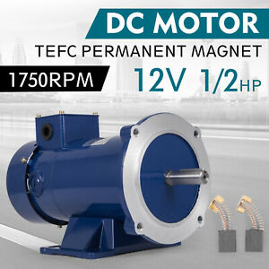Dc Motor 1 2hp 56c Frame 12v 1750rpm Tefc Magnet Continuous Smooth Removbase