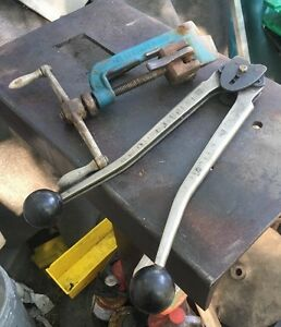 Band It Strapping Tensioner Tool And 1 2 Steel Sealer Pallet Strap Crimper