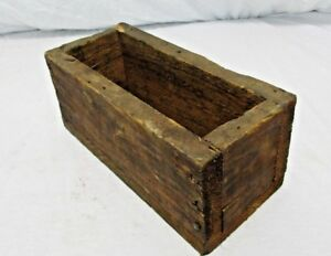 Old Primitive Vintage Antique Wood Small Box Compartment Display Trinket K