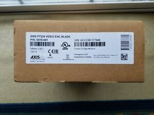 Axis P7224 Video Encoder Blade 0418 001 Brand New In Box Never Opened New Stock