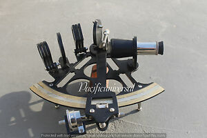8 Marine Navigation Heavy Brass Nautical Sextant Black Powder Coating Gift