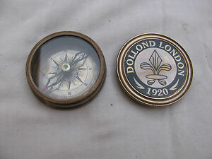 Solid Brass Poem Compass Nautical Replica Dolland London Pocket Compass Item