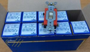 Lot Of 9 Leviton 1223 2i Industrial 20a 3 way Ac Toggle Switch 20a 120 277v