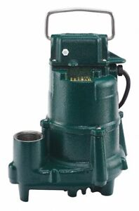 Zoeller 1 2 Hp Submersible Sump Pump No Switch Included Switch Type Cast Ir