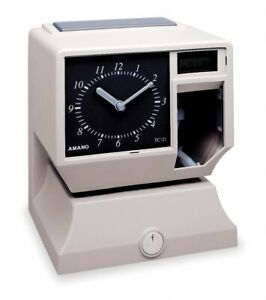Amano Surface Wall mount Electronic Card Punch Time Clock 8 1 4 h X 6 7 8 w