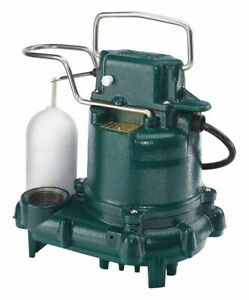 Zoeller 3 10 Hp Submersible Sump Pump Vertical Switch Type Cast Iron Base M