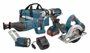 Bosch Standard Cordless Combination Kit 18 0 Voltage Number Of Tools 4