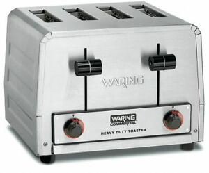 Waring Commercial 11 7 8 4 slice Heavy Duty Commercial Toaster
