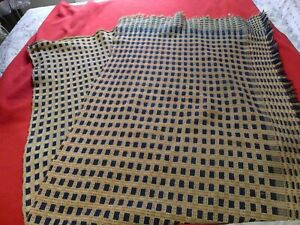 19th Century Coverlet Woven Antique Bed Cover Panel 83 L X 31