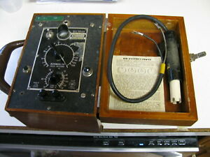 Old Vintage Rb Solu Bridge Conductivity Meter And Cell water Analyzer