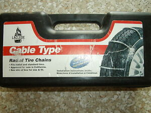 Tire Cable Chains Laclede 1038 215r14 P255 60r14 P225 70r15 P225 55r16 1