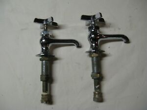 Vintage Antique Hot And Cold Chrome Water Faucets
