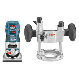Bosch Pr20evspk 1 Hp Colt Variable Speed Electronic Palm Router Combination Kit