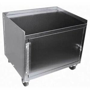 Deluxe 1 Shelf 1 Cabinet Stainless Steel Cart 19 h