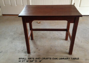 Small Oak Arts And Crafts Mission Oak Utility Table