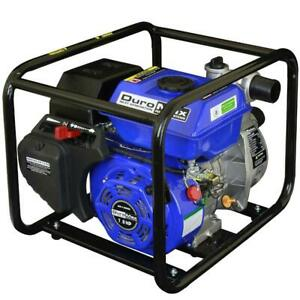Duromax Water Pump Utility Gas Powered Portable 7 Hp 2 In Low Oil Shutoff