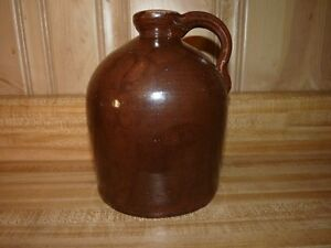 Stoneware Whiskey Little Brown Jug 7 Moonshine Beehive Antique Applied Handle