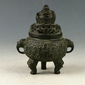 Exquisit Chinese Old Bronze Buddha Incense Burner Made During Da Ming Xuande