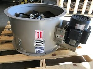 24 Dia Tubeaxial Exhaust Fan For Paint Spray Booth three Phase 8 900 Cfm