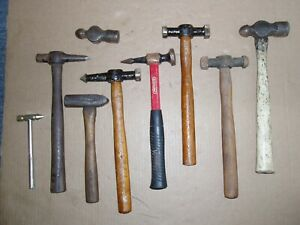 Auto Body Tools Lot Hammers Pick Ball Peen Metal Shaping Forming Vintage Read